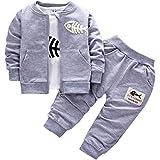 BINIDUCKLING Neonato Cappotto + Pantaloni + Camicie Set da bambino Toddlers Casual 3 pezzi Abiti