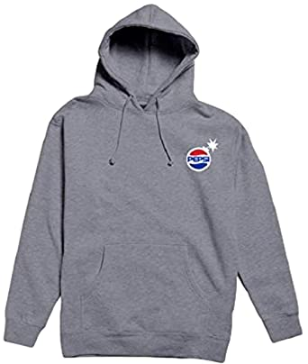 f89c3706cd Amazon.com  The Hundreds Men s Pepsi Collection Fashion Hoodie (Grey ...