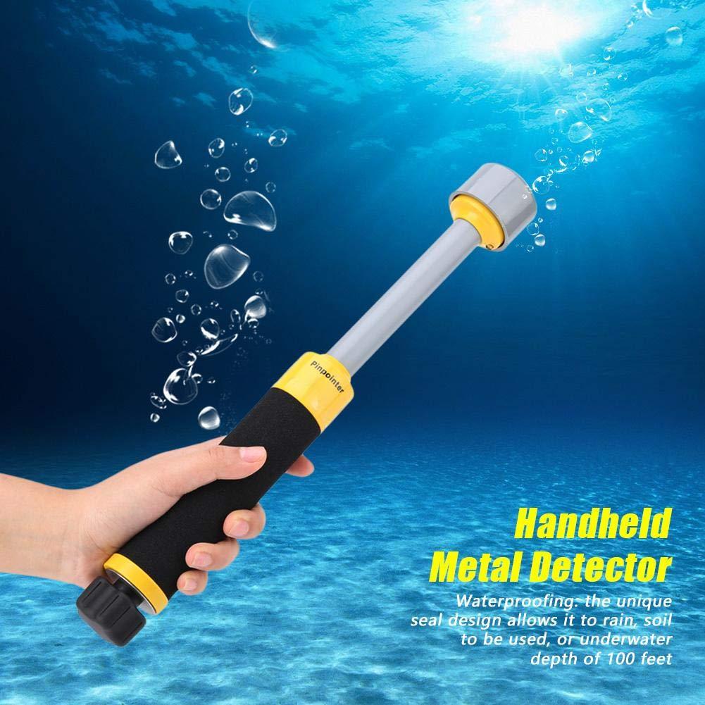 Detector de metales a prueba de agua MD740 Puntero de mano Detector de inducción de pulso Buscador de metal 30 m / 98 pies con cuerda colgante: Amazon.es: ...