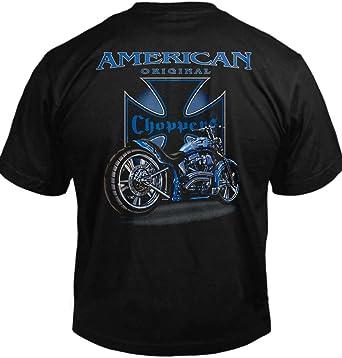 Amazon.com: American Choppers Biker playera de manga Tee ...