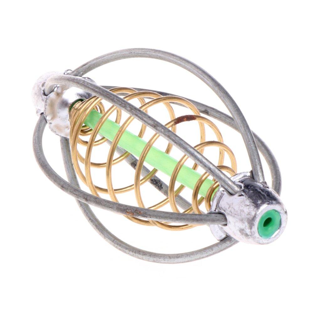Hacloser 6 Wire Method Carp Fishing Feeder Swim Feeders Spring Lead Sinker