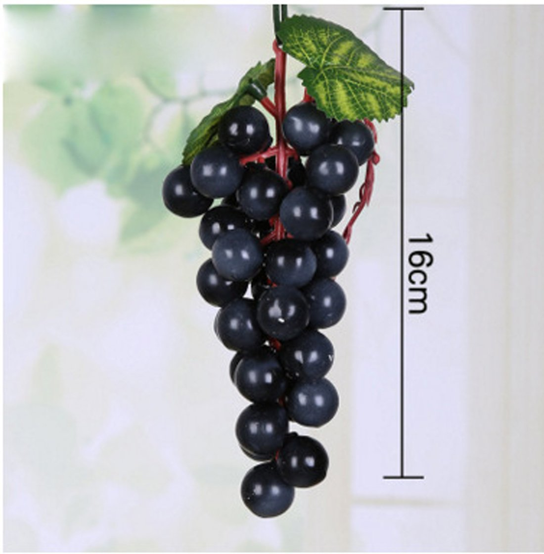 HBOS Imitation Grapes Fake Raisins Large Grape Clusters with Frost Artificial Fruit Shooting Props Home Decoration,4PCs