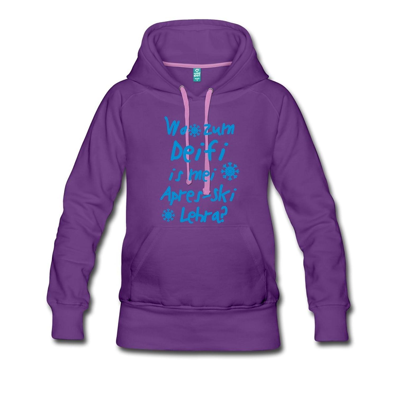 Wo zum Deifi is mei Apres-Ski Lehra? Frauen Premium Kapuzenpullover von Spreadshirt®