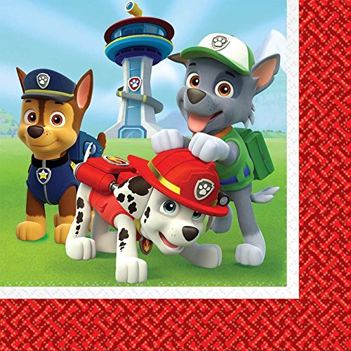 Paw Patrol birthday party supplies 32 pack lunch napkins by BirthdayExpress