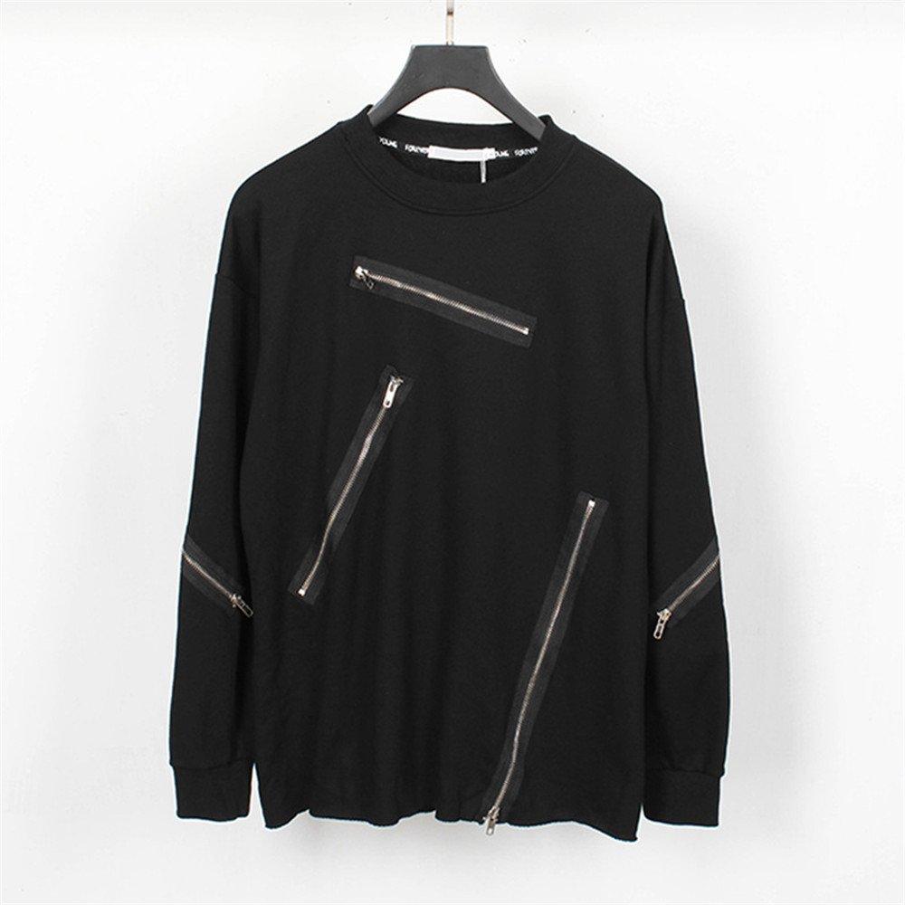 Lisux mach alle treffer Trend dunkle Kapuzenpullis männer Casual Mode - Pullover,schwarz,XXL