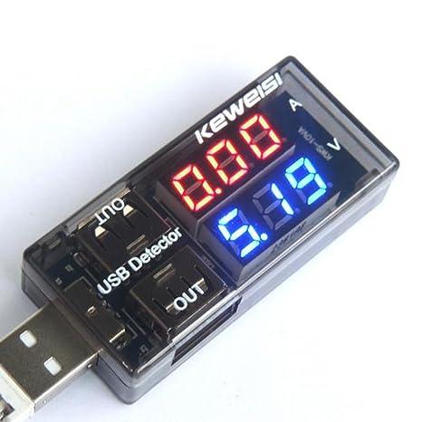 Cargador USB carga probador Detector de voltaje actual del amperímetro voltímetro