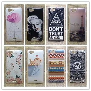 ModernGut pcs/lot Multi species Eiffiel Towel Painted Hard Plastic Phone Case Cover For Sony Xperia J ST26i