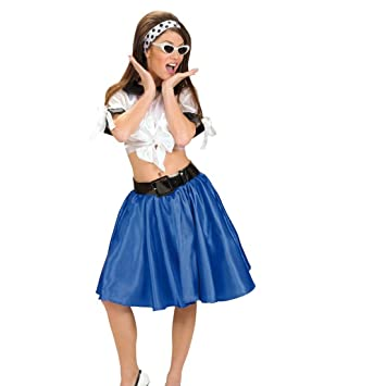 Jupe Swing Avec Jupon Années 50 Jupe Bleue Rock\u0027N Roll Jupe Pour Femme  Rockabilly