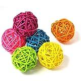 【Loveril】マンチボール6個入り ペット用おもちゃ インコ オウム ハムスターなど 食用色素を使用