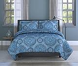 Inspired Surroundings Comforter Set India, King, Blue