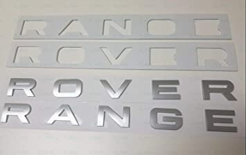NEW RANGE ROVER SILVER 3M LETTERS HOOD OR TRUNK TAILGATE EMBLEM BADGE NAMEPLATE