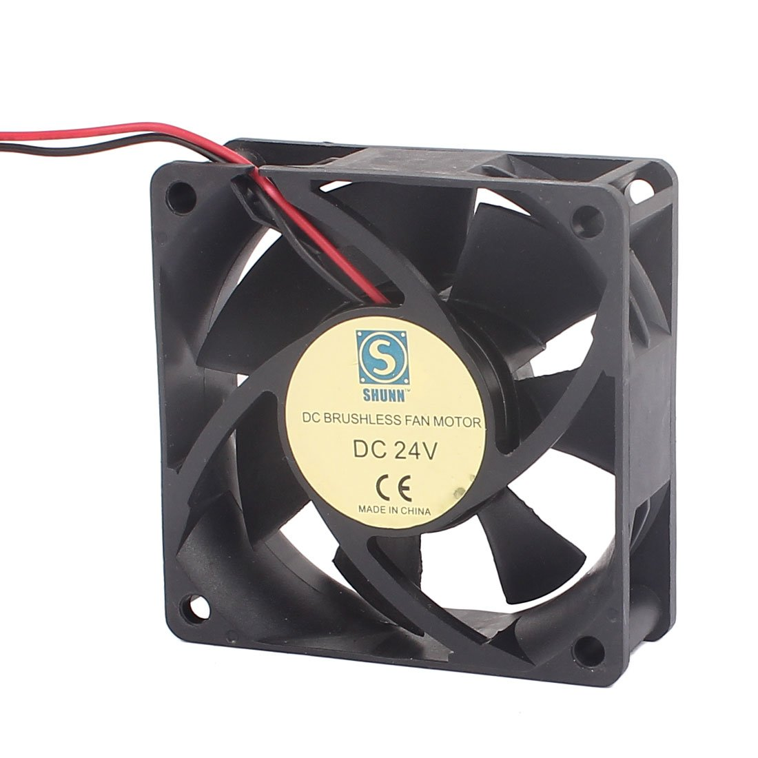 uxcell DC 24V 70mmx70mmx25mm Brushless 7 Vanes Cooling Case Fan Dual Ball