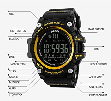SMEI Al Aire Libre Deporte Reloj Inteligente Hombres Bluetooth ...