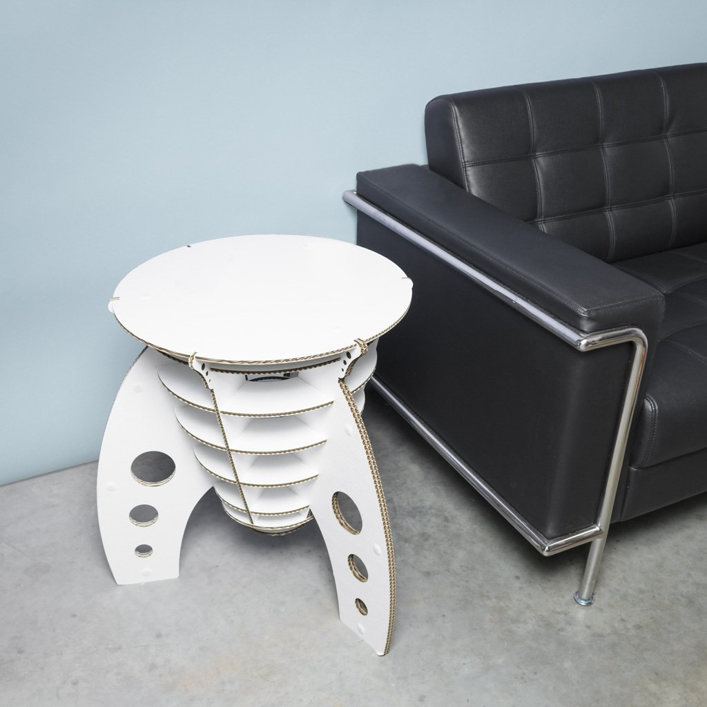Cardboard Safari Cardboard Rocket Table White
