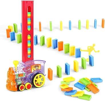 Train électrique de domino intelligent pour enfant avec effets de lumière, dominos, Train Automatique Jouets éducatifs d'enfants