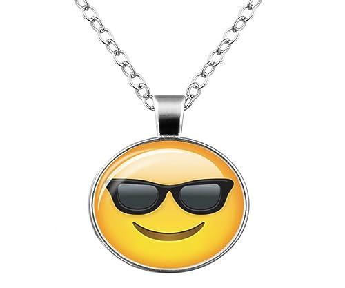 Rinhoo - Collar de emoji divertido con gafas de sol, para ...