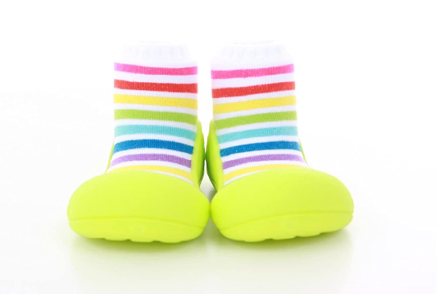4651905e9da2f First Walking Shoes with Socks for Baby Boys Girls (Small, Rainbow Green)