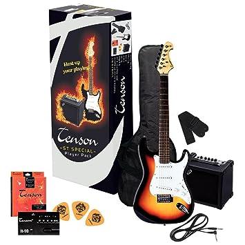 Tenson F502543 - Pack guitarra eléctrica RC-100, diseño 3-Tone sun burst