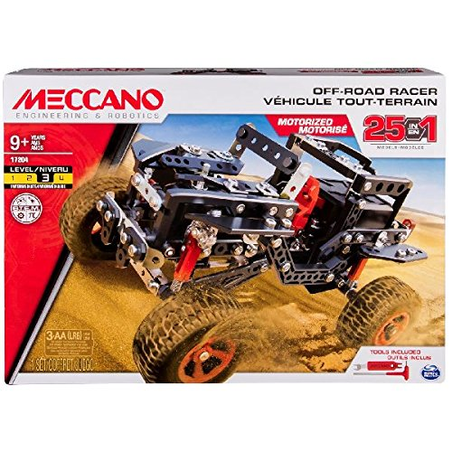 Meccano 25M Set Off Road Racer Building (Motorized Erector Set)