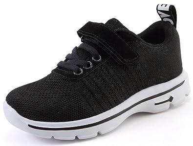 ... Jungen Turnschuhe Atmungsaktiv Fitnessschuhe Mädchen Laufschuhe Kinder  Sneakers Leicht Sportschuhe Hallenschuhe Fitnessstudio Schuhe mit  Klettverschluss a6a3b571b9