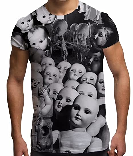 e4c1ad68 Bang Tidy Clothing Men's Halloween Tee Horror T Shirt Doll Factory Graphic  Tops