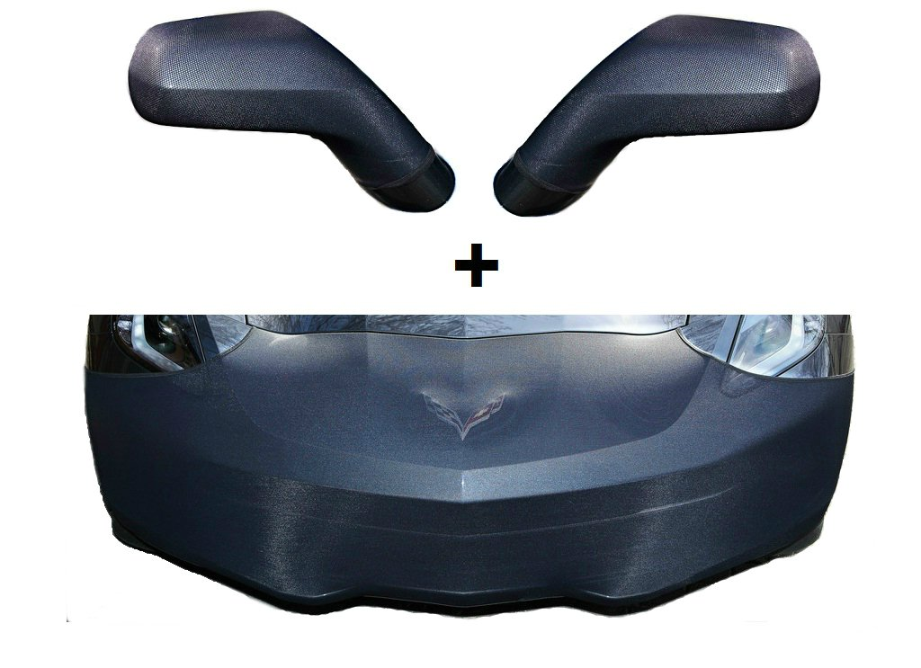 C7 Corvette Stingray NoviStretch Front + Mirror Bra High Tech Stretch Mask Combo Fits: All C7 2014 and Newer Corvettes Including Z51, ZO6 and Grand Sport