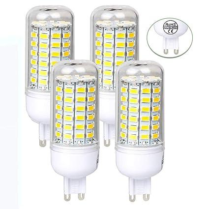 Neverland 4 x G9 5W LED Lámpara Bombilla Bombilla Maíz Luz 72 x 5730 SMD 220