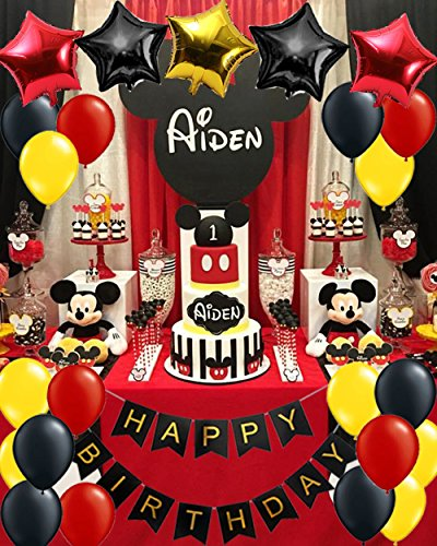 Mickey Mouse Birthday Party Supplies/Red Black Yellow Party