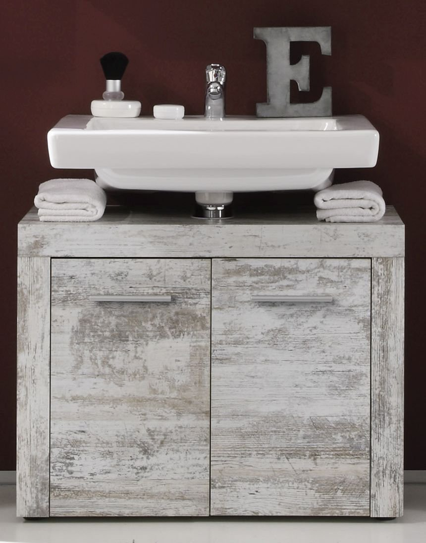 Furnline trendteam Cancun 1259-301-68 Bathroom Sink Cabinet 72 x 56 x 34 cm in Canyon White Pine