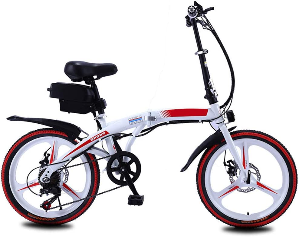 NYPB Bicicleta Eléctrica Plegables, Bici Electricas Adulto con ...