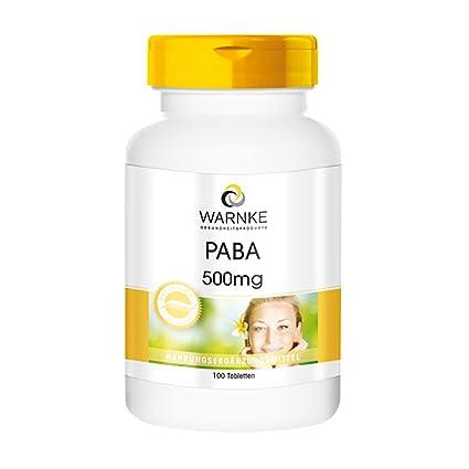 Ácido paraaminobenzoico – PABA 500mg –- 100 comprimidos- Artículo vegano