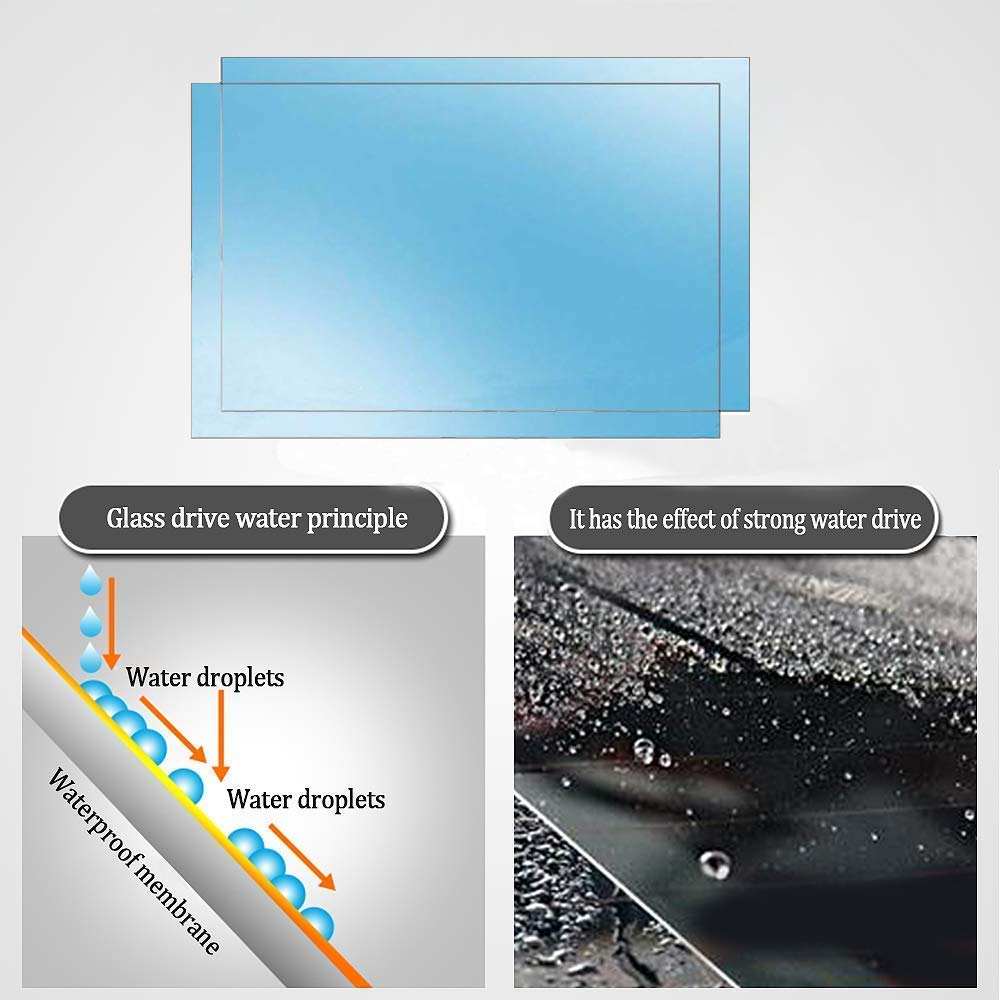 HD Nano Film Anti-glare,Anti-scratch,Rainproof Side window anti-fog film KerKoor Anti Fog Film Car Rear View Mirror Waterproof Film protective film Anti Glare Rain-Proof Anti Water Mist
