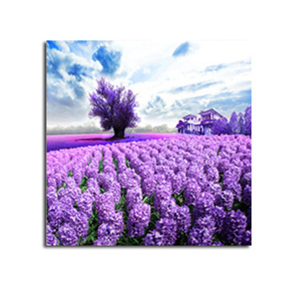 bismarckbeer Full Drill Lavender 5D Diamond Painting Kits DIY Handmade Rhinestone Pasted Embroidery Cross Stitch Arts Craft