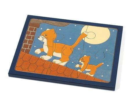 Trigo grano Puzzle Gatos en el tejado, pequeño, estampado ...