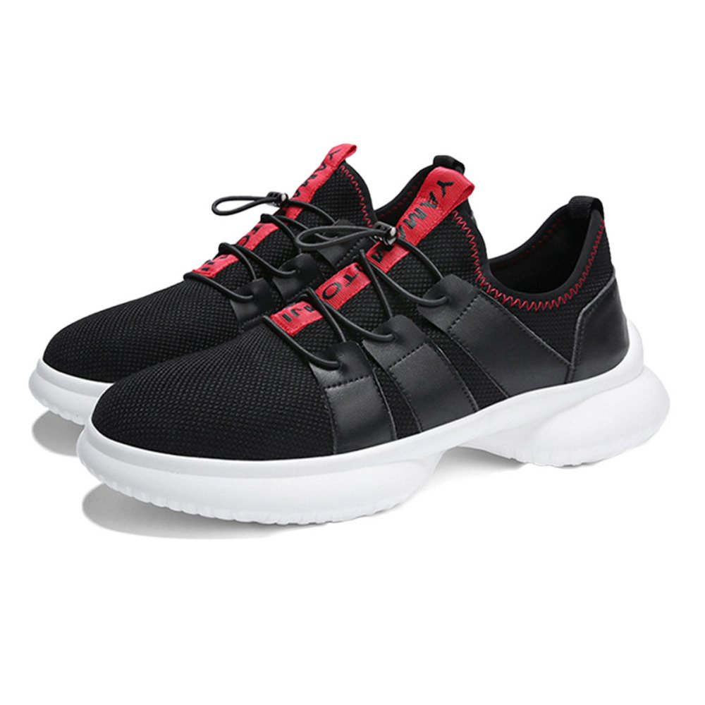 Calzado Deportivo Hombre Unisex Zapatos De Lona De Verano Zapatillas De Correr Transpirable Fly-Weave 41 EU|Red