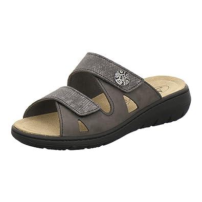 AFS Schuhe 2808, komfortable Damen Pantoletten aus Leder