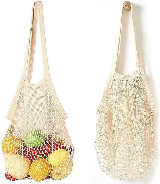 Bolsa de la compra de cuerda, 2 bolsas de malla reutilizables ...