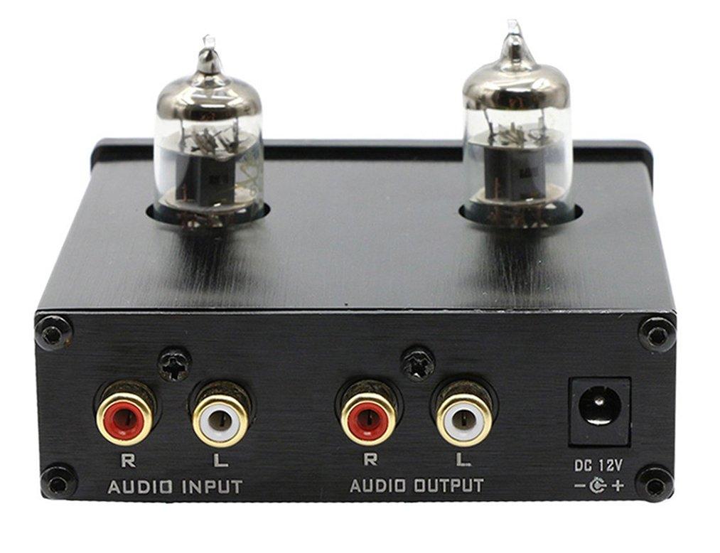 Dilvpoetry Tube01 Preamp Vacuum Tube Amplifier Buffer 6j1 Mini Hifi Preamplifier Fx 01 Amp Dc12v1a Silver