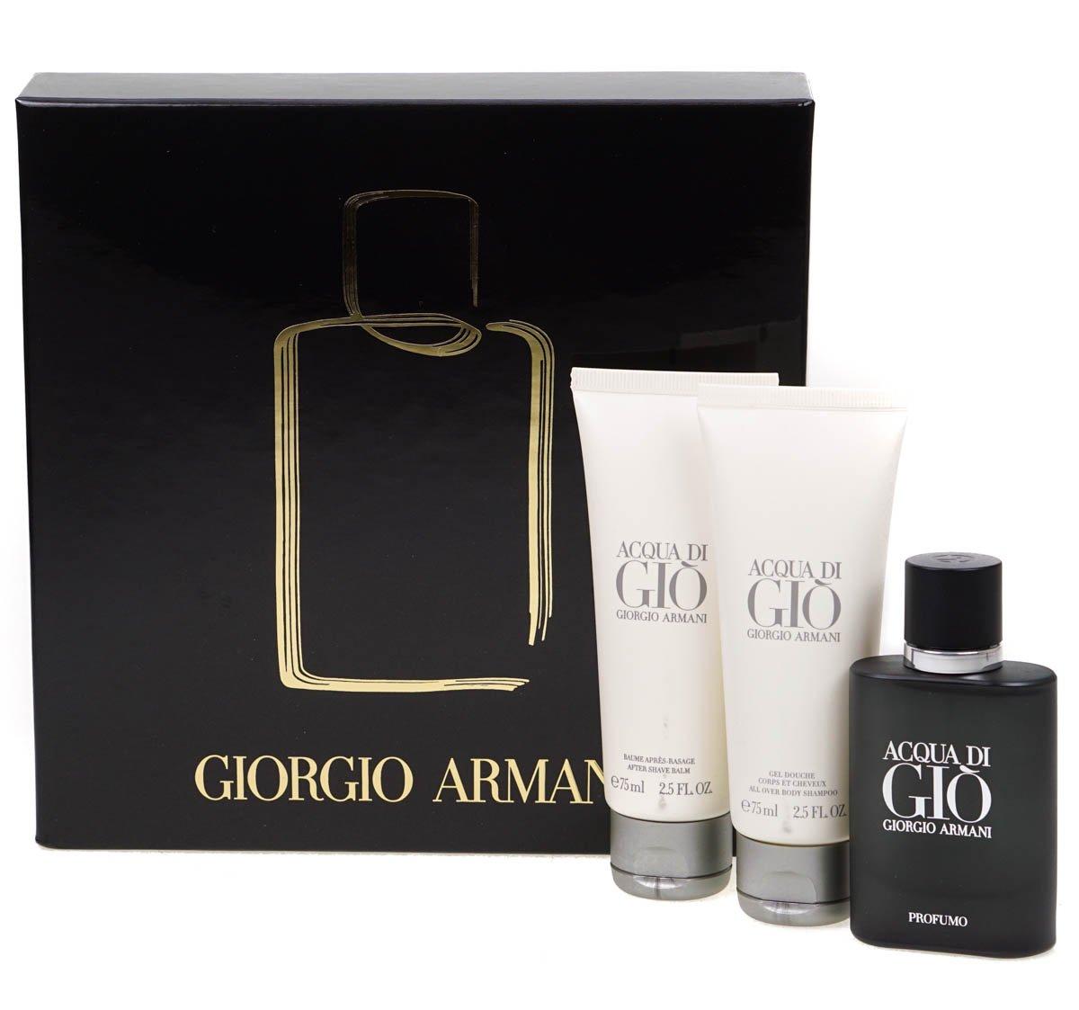 Acqua Di Gio Profumo by Giorgio Armani Eau de Parfum Spray 40ml, Shower Gel 75ml & Aftershave Balm 75ml R-50-040-03