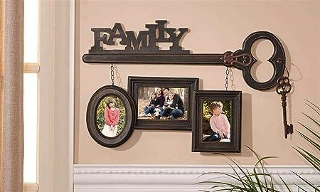 Family Skeleton Key Trio Hanging Wall Art Plaque Photo Frames Shabby ...