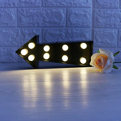 Brand-new Amazon.com: Marquee LED Lighted Arrow Sign Wall Decor Battery  HJ75