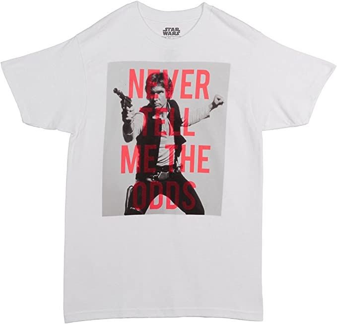 Star Wars Han Solo Never Tell Me The Odds Graphic T-Shirt