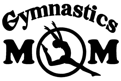 Gymnastics mom white decal car truck bumper window sticker