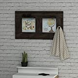LaModaHome Vintage Coat Rack, Travel The World Mexico Usa Spain Travel World Earth Plane Entryway Storage Shelf, Wooden Accent Furniture Hall Stand Design
