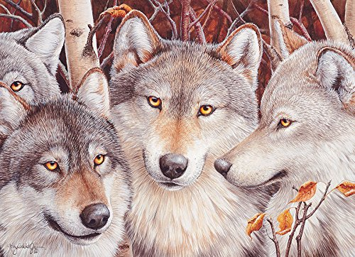 Cobble Hill Wolf Crowd Jigsaw Puzzle, 1000-Piece
