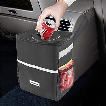 Vehcle Trash Can Car Rubbish Storage Bag Holder Travel Hanging Door Litter Bin
