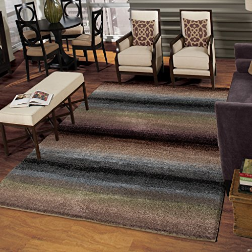 Orian Rugs Striped Connection Brown Area Rug (5'3