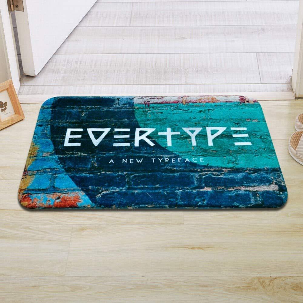 CWJ American Creative Letter Trend mats, Door mats, Door-to-Door Anti-Skid Window mats, Absorbent mats,B,5080