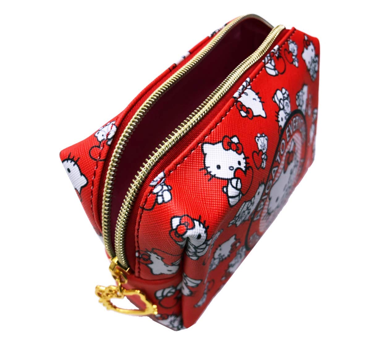 Hello Kitty Makeup Bag, Perfect Cosmetic Bag for Travel, Brushes, and Accessories, Great gifts for her,...