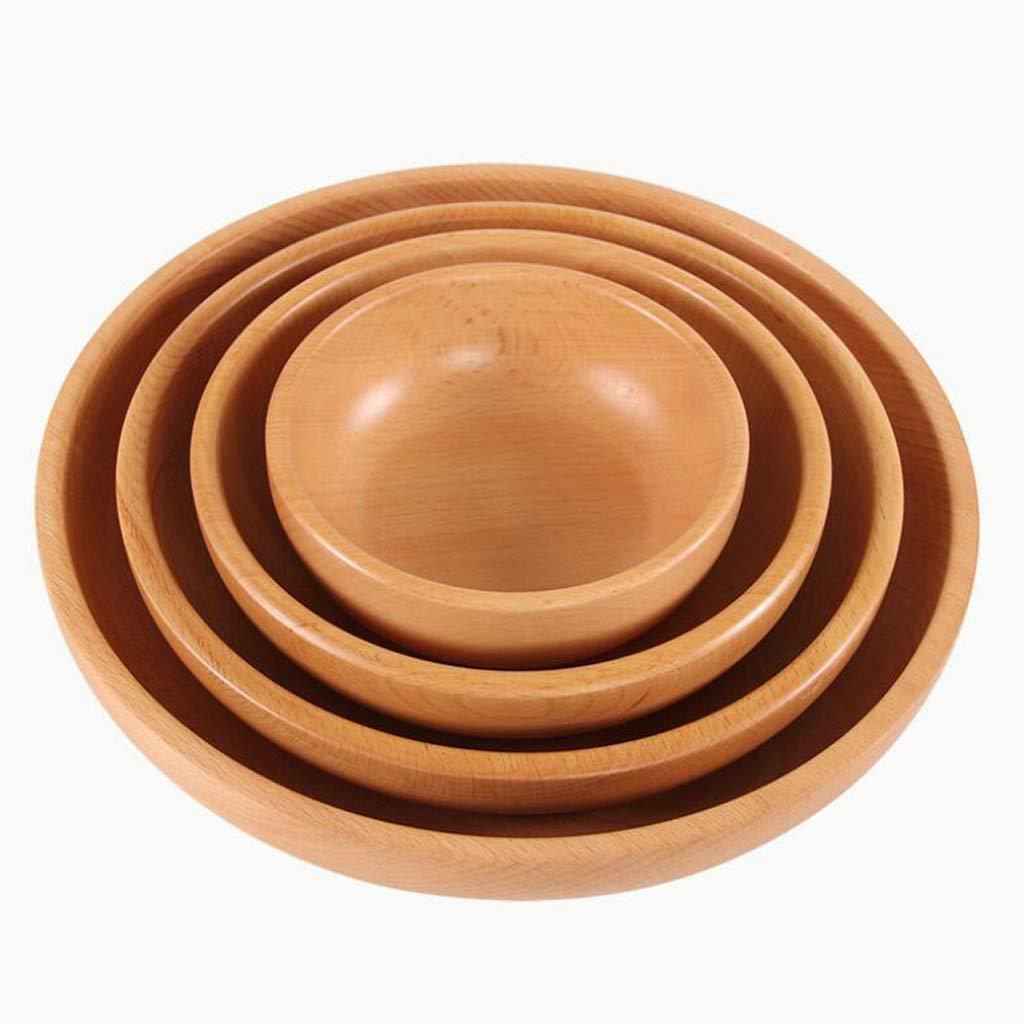SM SunniMix Bol Ronde De Riz Noodles en Bois Bol Service Cuisine Accessoire Lavable S